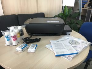 Recenze - HP Ink Tank Wireless 415 All-in-One obsah balení