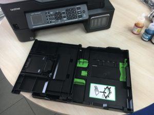 Recenze inkoustové tiskárny Brother MFC-T910DW - zásobník 1